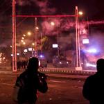 CSF fired tear gases and protesters defend with Flares الامن يقذف غازات مسيلة للدموع والمتظاهرين يردون بالشماريخ thumbnail