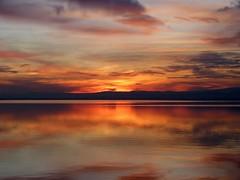 Anochece en La Albufera (II) (.Bambo.) Tags: sunset españa lake water valencia lago atardecer agua puestadesol ocaso parquenatural laalbufera