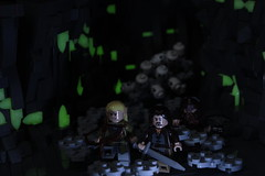 The Glowing Paths of the Dead (LukeClarenceVan) Tags: dark dead glow lego earth lord lotr rings glowing aragorn paths olympics middle gimli legolas melo rockwork lukeclarencevan