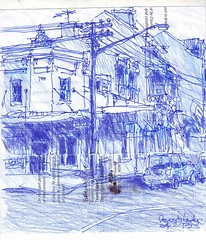 Forest Lodge - Arundle St (Peter Rush - drawings) Tags: forest sketch drawing sydney australia lodge nsw glebe arundle forestst