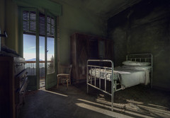 seasonal depression  ( explore ) (andre govia.) Tags: light summer camp abandoned film dead glasses photo bed shadows shot photos ghost seasonal best andre depression trespass derelict decayed abondoned silenthill decayedbuildings andregovia fogottenbuildings