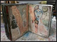 Art journaling...simplicity (PeachFire Arts) Tags: painting mixedmedia simplicity exploration artjournaling journalspreads flickrandroidapp:filter=none