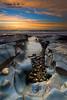 Bar Beach South (Kiall Frost) Tags: blue red sky orange sun seascape color colour water clouds sunrise newcastle photography rocks photographer australia pebbles nsw barbeach 1635mmf4 kiallfrost d800e