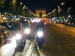 Champs Elysee Oct 17, 2006 (waitingfortrain) Tags: paris france french champselysees motorcycles biker parisatnight motorcyclist parisians frenchculture parisiandrivers frenchbiker champelyseestraffic champselyseesatnight