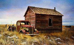 the abandoned farm (Pattys-photos) Tags: old house abandoned truck montana farm decayed