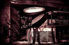 a place of light & shadow (TheOtherPerspective78) Tags: vienna wien park light shadow red building monochrome lines architecture modern canon dark licht moody architektur kindergarten schatten gebude dunkel stadtpark eosm efm1855