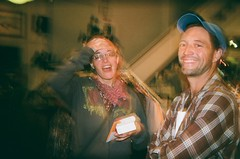 siblings (EllenJo) Tags: friends party 35mm march tim holga lomo gallery crystal flash siblings reception fujifilm artshow bsetting jeromearizona halfsister bulbsetting photographyshow march2 2013 jeromeaz bornin1979 86331 ellenjo holga135bc bornin1972 jeromeartistscooperativegallery ellenjoroberts capturingthelight openshutterwithflash