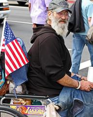 Down On The Corner (Steve Mitchell Gallery) Tags: street people men portraits wheelchair veteran panhandle homless sparechange