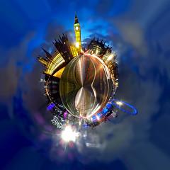 Westminster Bridge at Night - Polar Panorama (Anatoleya) Tags: city bridge panorama london westminster millenniumwheel night big ben samsung londoneye parliament bigben clocktower galaxy polar hdr anatoleya samsunggalaxycamera ekgc100
