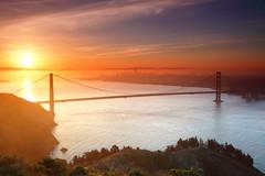 California 2013 (peter.guyan) Tags: sanfrancisco city travel bridge sky orange mist west water clouds sunrise canon eos golden gate cityscape goldengatebridge sausalito westcoast 24105mm leefilters 5dmkii eos5dmkii