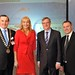 Michael Vaughan, IHF President, Miriam O'Callaghan, Conference Chairman, Tim Fenn, IHF Chief Executive and Brian Maher, National Customer Manager, Coca-Cola HBC Ireland and NI.