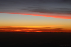 Anoitecer do Avio (Dusk from Airplane) (Fabiano Diniz) Tags: