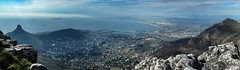 Panoramic view from Table Mountain (CarolynEaton) Tags: africa mist mountain table bay town d70 south atlantic cape camps