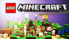 LEGO Minecraft - Additional Micromobs Promo Poster (MGF Customs/Reviews) Tags: lego steve micro bonus creeper jinx mobs microworld cuusoo mojang minecraft micromobs