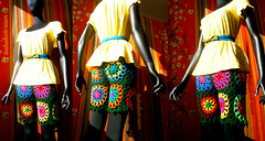 Crochet Shorts - Retro Granny Circles To Squares (babukatorium) Tags: pink flowers blue red orange flower color green art wool fashion yellow vintage circle square rainbow colorful purple pants recycled handmade turquoise teal burgundy oneofakind crochet moda violet style retro used daisy trousers hippie shorts psychedelic arcobaleno remake bohemian multicolor octagon whimsical leggings renew darkblue hotpants haken icord häkeln emeraldgreen crochê grannysquares ganchillo royalblue fuxia upcycled uncinetto fattoamano かぎ針編み tığişi horgolt uvgreen babukatorium