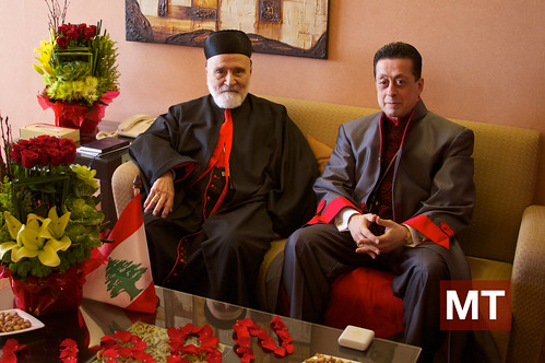 Cardinal Sfeir with Apostle Michel Harfouche