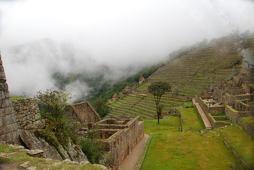 Machu Picchu rainy, foggy day