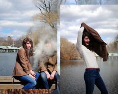 11/52 (kickingenterprise) Tags: lake girl collage composite centralpark smoke jeans boathouse bomb 52