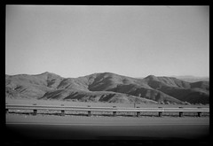 California (Area Bridges) Tags: california blackandwhite film landscape pentax 1988 scan negative 80s scanned roadside fullframe eighties 1980s mesuper