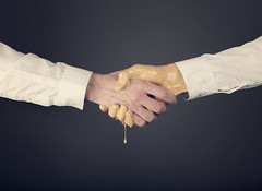 The Golden Handshake (Morphicx) Tags: bridge people male men sign computer gold idea golden office hands friend paint commerce hand employment fingers creative meeting competition fortune business suit human farewell deal handshake contract create concept persons gesture success protection greeting partner dripping isolated hold career welcoming agreement