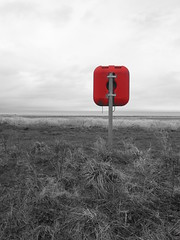 Allonby (ambo333) Tags: uk sea england shoreline cumbria lifebuoy solway allonby lifepreserve solwaycoast allonbybeach