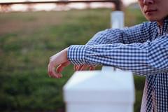 #Flickr12Days (summer_77) Tags: blue sunset film shirt 35mm warm hand superia contax 400 g2 45mm flickr12days