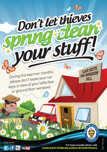 Don't let thieves spring clean your stuf by West Midlands Police, on Flickr