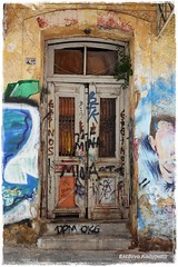Graffiti door art (Eleanna Kounoupa (Melissa)) Tags: graffiti center athens historic greece  historiccenter