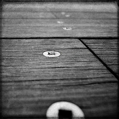 screwed (1crzqbn *in&out*) Tags: bw sunlight abstract macro metal square screws shadows bokeh textures pdx shining screwed jamisonsquare woodenwalkway artdigital crazygeniuses exoticimage 1crzqbn netartii hmbt monochromebokehthursday