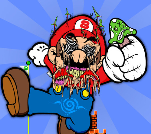 Mario is on a mushroom binge