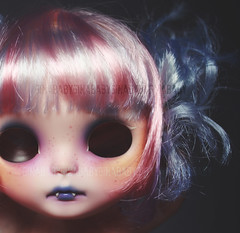 'I am Synesthesia' (GBaby - super busyyyy) Tags: baby strange hair doll teeth alien blythe dye custom creature vamp fbl gbaby