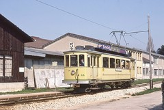 1980-04-12, TN, Cortaillod, Chantier (Fototak) Tags: switzerland tn tram neuchtel 44 strassenbahn ligne5