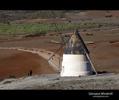 Genoese Windmill (esslingerphoto.com) Tags: road boy red cactus mill windmill architecture canon spain europe exposure shot farm mother tourist architectural dirt trail single historical sanjos walkers almeria ironoxide esslinger parquenaturaldecabodegata servidumbredepaso esslingerphotocom esslingerphoto windmillofthegenoese cortijodelcollado