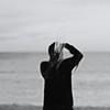 autoritratto (sarak hellas) Tags: life sea bw selfportrait man beach self mirror mare creative autoritratto spiaggia vetro grana sarak graffio scarabocchio nikond80 sarakhellas