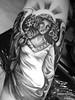 Angel (Angelstat2) Tags: tattoo angel religious wings tattoos sunray blackandgray tat2 forearmtattoo angelstat2 tattooshading
