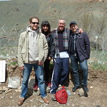 "Alper, Yonca, me, and Tolga at the border <a style=""margin-left:10px; font-size:0.8em;"" href=""http://www.flickr.com/photos/59134591@N00/8646877821/"" target=""_blank"">@flickr</a>"
