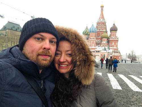 Freezing our arses off in Red Square!
