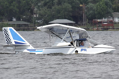 N907CB - 1997 build Progressive Aerodyne SeaRey, on Lake Agnes, during the 2013 SnF Splash-In (egcc) Tags: florida amphibian lakeagnes seaplane snf progressive rotax polkcounty sunnfun splashin searey aerodyne n907cb 1mk105