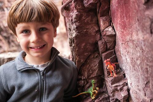 Adrien & dinosaurs in the wild