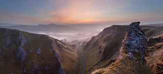Winnats Pass Dawn Panorama