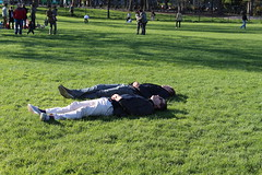 Springtime Rest (rysgam) Tags: park nyc newyorkcity sleeping people newyork men canon sleep centralpark rest dslr greatlawn t4i