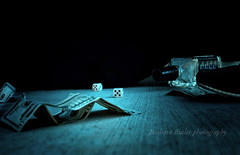 Luck............ (RedHatGal: Barbara Butler/FireCreek Photography) Tags: ca dice gambling money craps game alley backstreet illegal booze betting bakersfield redhatgal kerncountyphotographers firecreekphotography kernphotographyassociation barbarabutlerphotograhy