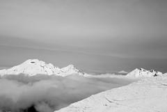 (Sawiel) Tags: bw snow mountains clouds oregon sisters bend bachelor cascades jefferson brokentop
