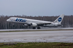 757 Utair (n_dunaev) Tags: rain weather clouds plane airplane shower flying spring airport moscow aircraft flight landing airline boeing airlines takeoff spotting dme 757 planespotting domodedovo