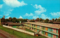 Holiday Inn - East St. Joseph Street South Springfield Illinois (1950sUnlimited) Tags: travel vacation tourism hotel interior lakes landmarks motel roadtrips villages cocktail postcards leisure roadside poolside resorts midcentury cottages swimmingpools lobbies golfcourses lounges