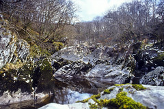 Afon Conwy (Saturated Imagery) Tags: snow film wales 35mm slidefilm e6 conwy canoneos300 kodakektachrome100g