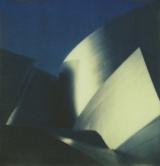 Walt Disney Concert Hall #2, Los Angeles (H Polley) Tags: architecture polaroid sx70 losangeles cool gehry waltdisneyconcerthall impossible px70 theimpossibleproject