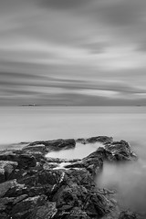 Through the Lens of Illusion (James McBean Photography) Tags: vancouverisland landscape sunset nature water lighthouse outdoor rocks monochrome shore sea blackandwhite longexposure cloudporn oakbaybc ocean cattlepoint shoreline britishcolumbia ngc nikond750 seascape bluehour victoriabc nikon clouds