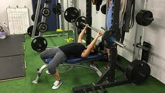 And some #benchpress tips - as usual, I can do one & then none. #bench, I will figure you out someday! #powerlifting #xxfitness #girlswhopowerlift (superkimbo) Tags: girlswhopowerlift benchpress bench powerlifting xxfitness