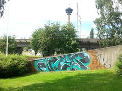 Tampere graffiti (Thomas_Chrome) Tags: street streetart art wall suomi finland graffiti europe can spray illegal vandalism nordic walls tampere